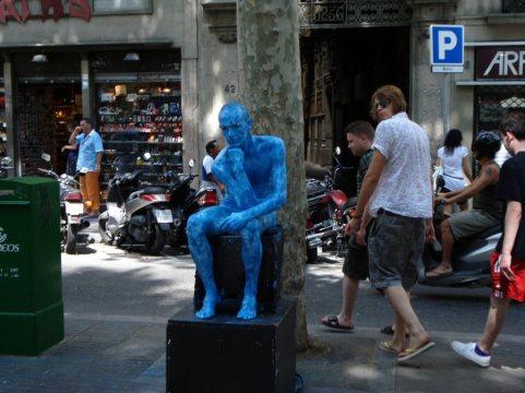 l'home blau-blueman